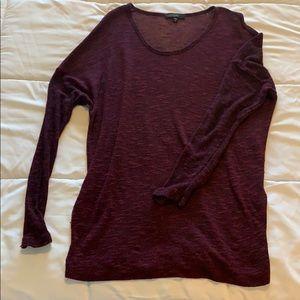 Dark maroon sweater